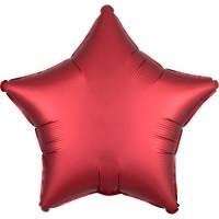 Folieballon Satin Luxe Rood ster 43cm