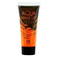 fluo neon makeup oranje blacklight schmink