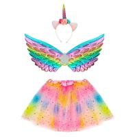 Eenhoorn unicorn verkleedset kostuum rainbow kind