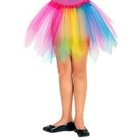 regenboog tutu kind tule rokje carnaval
