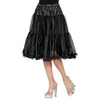 lange zwarte Petticoat deluxe carnaval