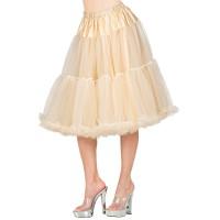 lange creme Petticoat deluxe carnaval