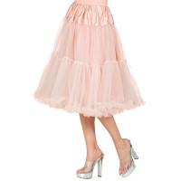 lange oud roze Petticoat deluxe carnaval