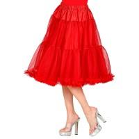lange rood Petticoat deluxe carnaval