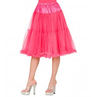 lange Petticoat roze carnaval onderrok