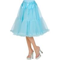 lange Petticoat lichtblauw blauw carnaval onderrok