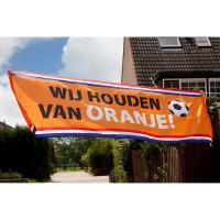 Banner spandoek nederland oranje fanartikelen holland