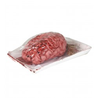 Bloederige hersenen in slagers bakje