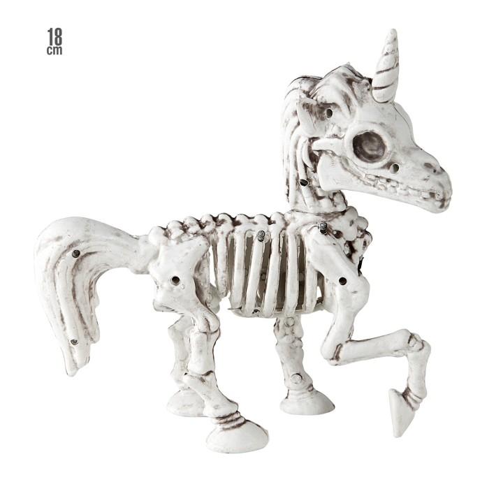 Halloween decoratie skelet Unicorn 18 cm