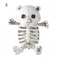 Halloween decoratie skelet Teddybeer 15 cm