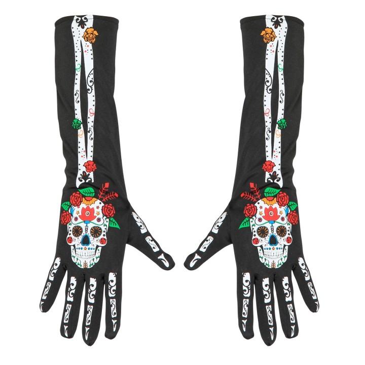 Dia de los Muertos handschoenen 40 cm