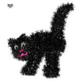 Halloween muurdecoratie zwarte kat versiering