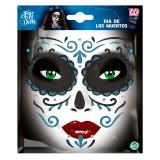 gezicht sticker halloween Dia de Muertos