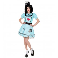 Opwind Doll kostuum turquoise dames