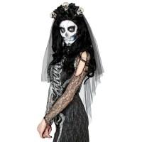 zwarte bruidssluier halloween accessoires dia muertos