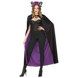 omkeerbaare halloween cape zwart paars vampier