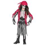 Piraten skelet kostuum kind