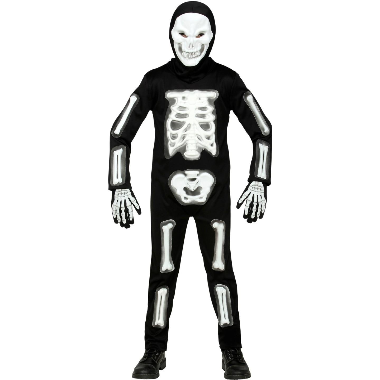 Skelet pak kind masker halloween kostuum