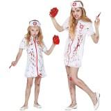 Halloween zombie verpleegster pakje kind
