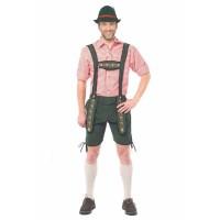 goedkope Lederhosen groen Tiroler broek kleding
