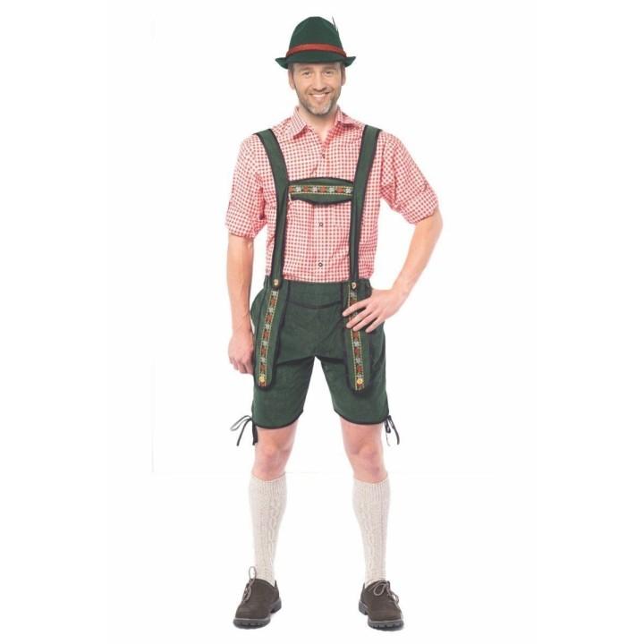 Lederhosen Johann kort groene Tiroler broek