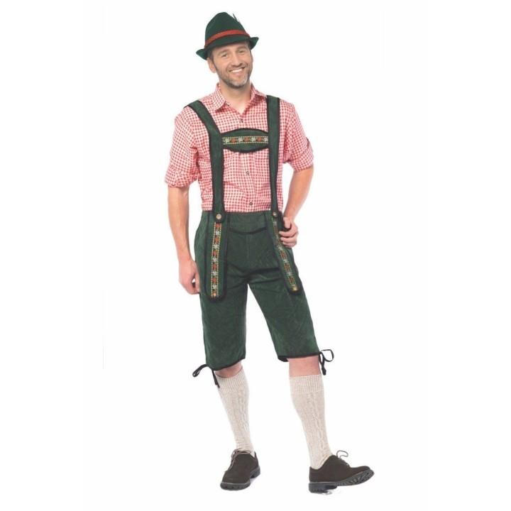 Lederhosen Johann lang Groene Tiroler broek