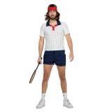 Jaren 80 retro tennis outfit heren