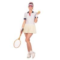 Jaren 80 retro tennis outfit dames wit