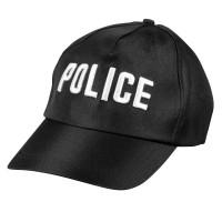 Zwarte Politiepet police politie accessoires carnaval