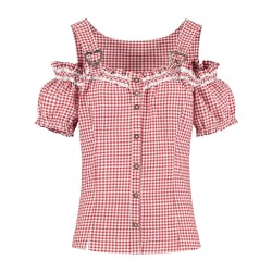Trachten mieder blouse dames rood wit