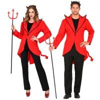 Duivel kostuum unisex slipjas rood