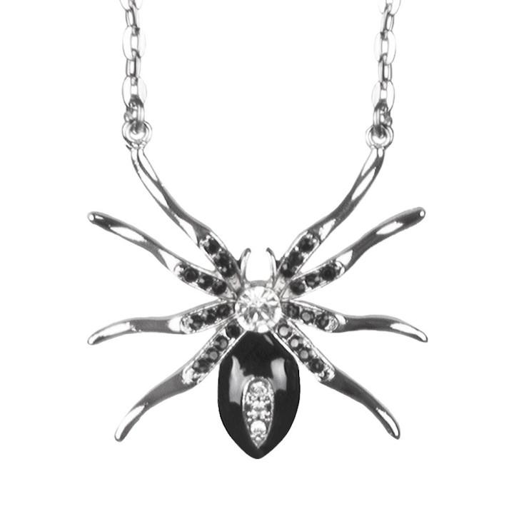 Halsketting zwarte weduwe spin