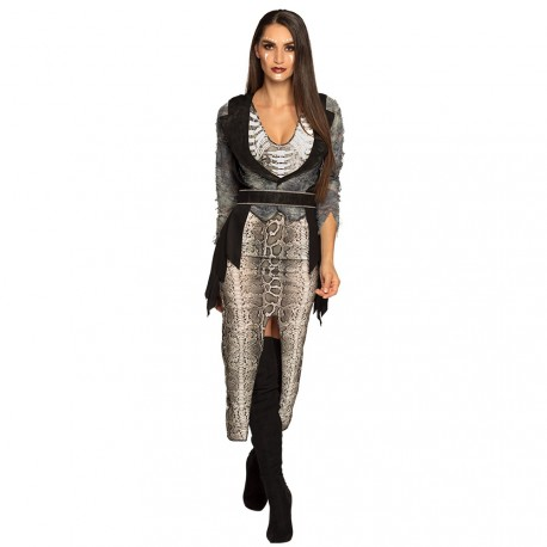 Voodoo kostuum vrouwen halloween kleding jurk