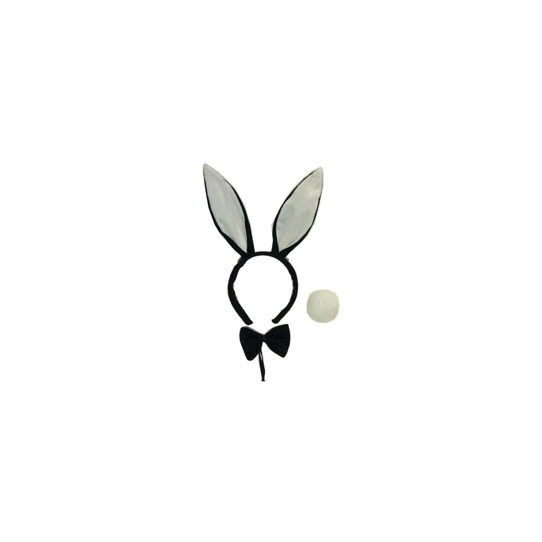 bunny oortjes en staart zwart
