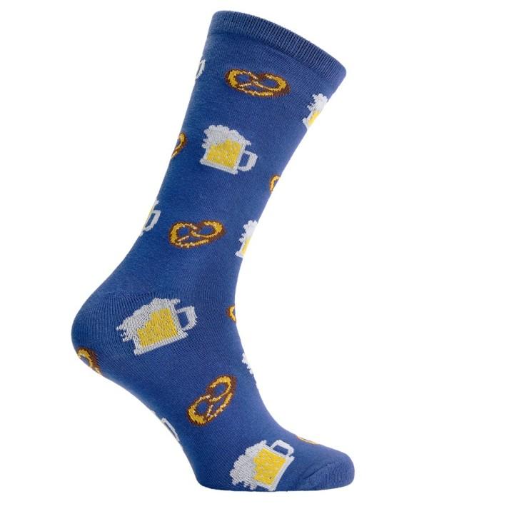 Oktoberfest sokken voor heren blauw