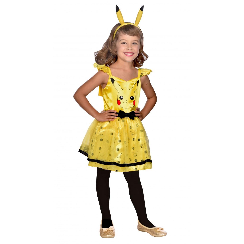 Pokemon kostuum kind pikachu jurkje meisjes