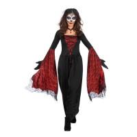 Dia de los Muertos lange jurk dames