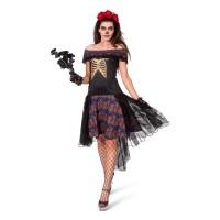 Dia de los Muertos jurk Zwarte Bruid dames