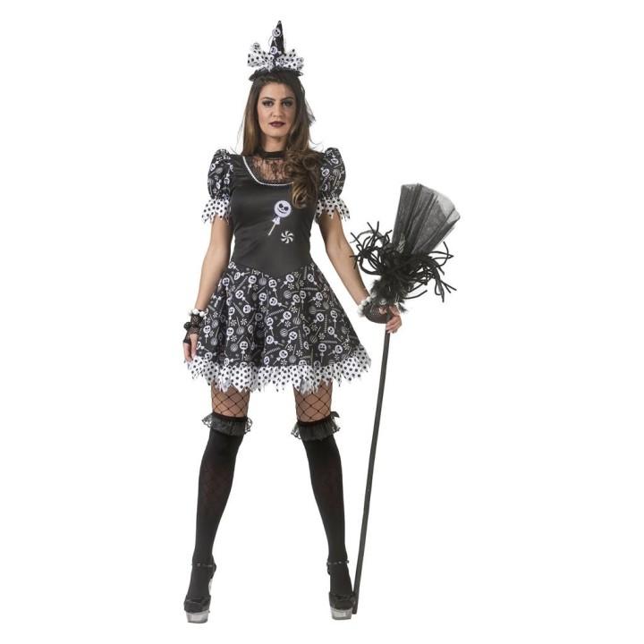 Heksenjurk dames Snoepjes heks kostuum