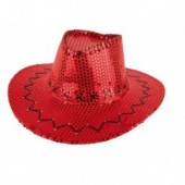 disco glitter cowboyhoed rood toppers 2017 kleding