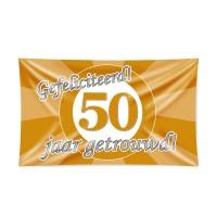 Gevelvlag 50 jaar getrouwd 90x150cm