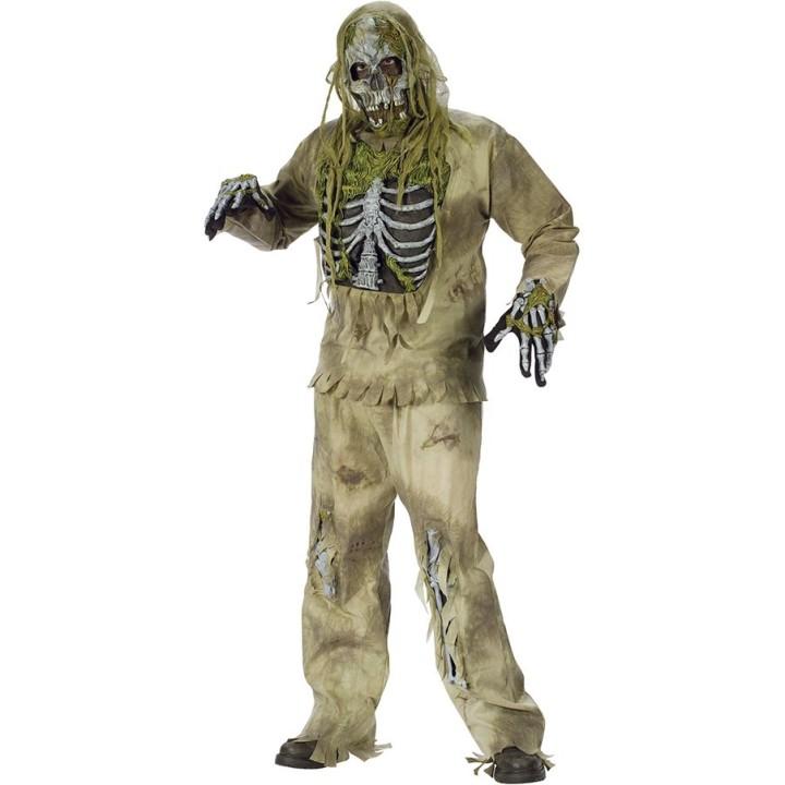 Zombie Skelet pak heren incl. masker