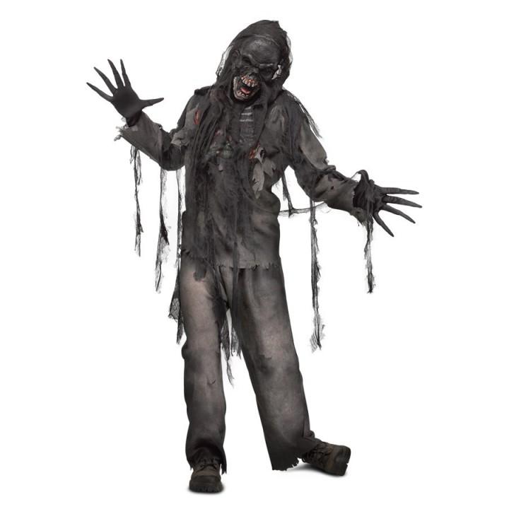 Verbrande Zombie pak heren incl. masker