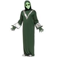 Alien kostuum heren groen zilver incl. masker