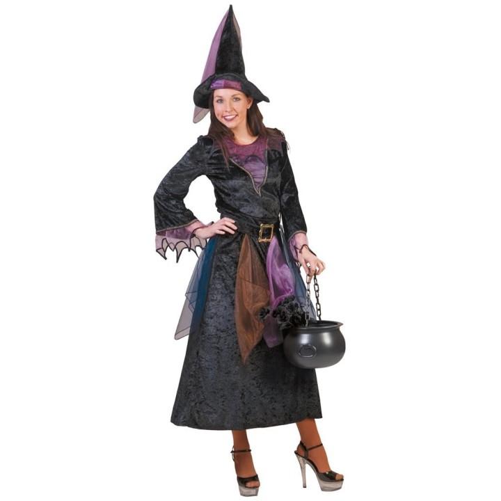 Heksenjurk + hoed Midnight dames