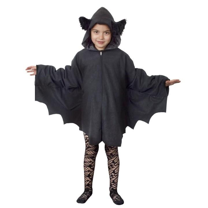 Vleermuis kostuum kind poncho met kap