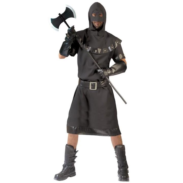 Middeleeuwse beul kostuum heren zwart