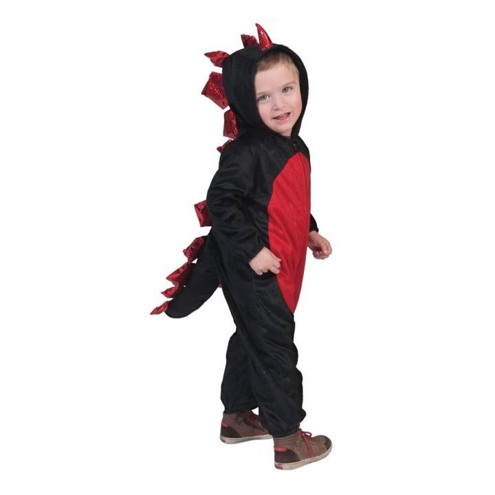 Drakenpakje kind zwart rood