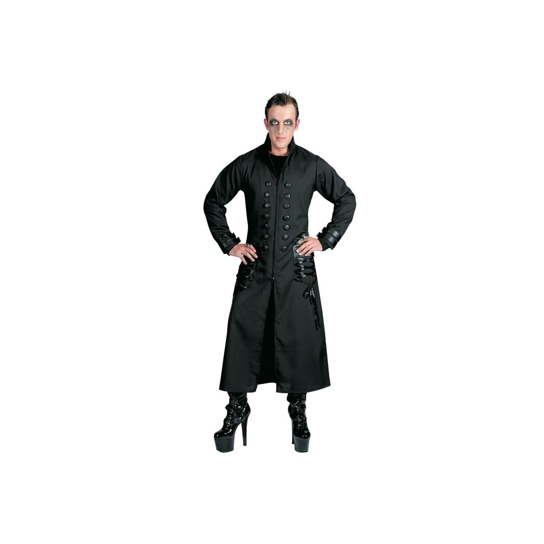 gothic jas zwart vampier kostuum halloween