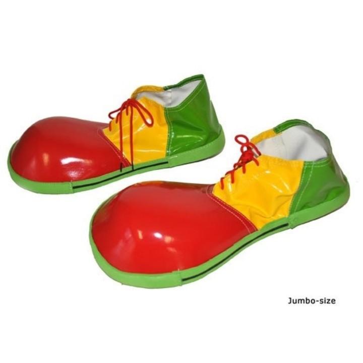 Jumbo clown schoenen rood geel groen